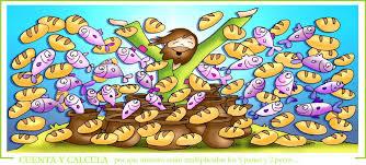 Resultado de imagen de panes y peces