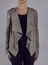 lupus cement grey leather suede d biker jacket
