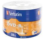 Диски DVD-R Verbatim 4.7Gb (25) printable