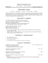 Medical Nurse Resume Example Sample Nursing Resumes