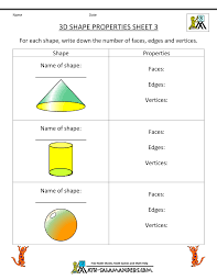 printable geometry worksheets rd grade third grade geometry 3d shape properties 3