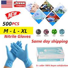 <b>500pcs</b> Nitrile Hand <b>Protection</b> Gloves M/ L /XL *<b>SAME DAY FAST</b> ...