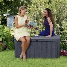 keter borneo rattan style 400l garden
