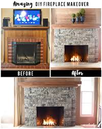 airstone fireplace makeover it s easy to makeover that ugly brick fireplace and turn it into