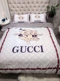 New Bed Sheet Design Sets Popular Logo Cartoon Design Bedding Sets New 2019 Spring Summer Bed Cover Modal Queen Size Bedding Supplies Comforter Cover King Bedding Duvet From