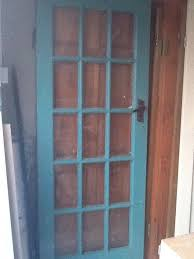 internal solid wood door with glass panes 10 collection only
