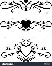 Heart Scrolls Set Vector Heart Scrolls Stock Vector Royalty Free 90535702
