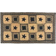 braided rug runners best of country star rectangle primitive black and tan or wine rectangular area