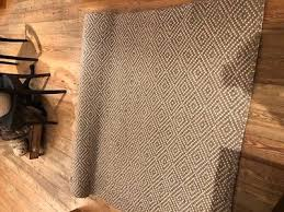 pottery barn diamond wrapped jute rug khaki ivory 3x5 brand new