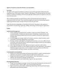 director job description luq executive director job description final_page_1 light up the queen