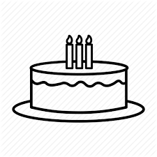 Birthday Cake Candles Celebrating Presents Tart Icon
