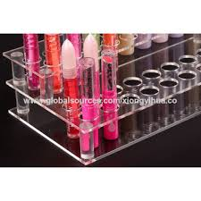 ... China Acrylic Lipstick Rack, 2 Tiers, Clear Display