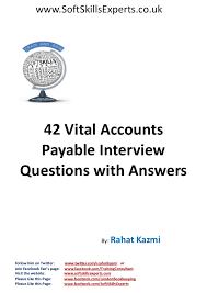 Accounting Interview Questions Simple 48 Accounts Payable Interview Questions And Answers