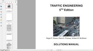 دانلود حل المسائل کتاب مهندسی ترافیک مک شین نسخه 5 - گیگاپیپر