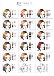 Copic Marker Hair Swatches Brown Copic Copicmarkers