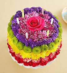 Birthday Wishes Flower Cake Rainbow In Clarksville Tn Flowers By