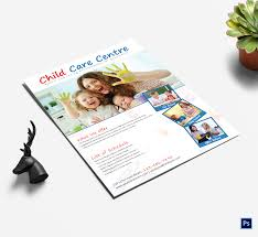 25 Beautiful Free Paid Templates For Daycare Flyers