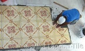 installing tile floor cement tile floor being laid installing ceramic tile in shower floor