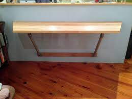 wall mounted butchers block table