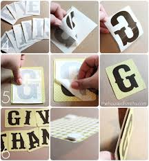 How to apply vinyl lettering on paper Thanksgiving garland thehouseofsmiths