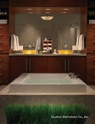 add lutron lighting controls to your master bath so you can create your own spa