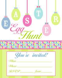 Easter Egg Hunt Free Printable Invitation Print However