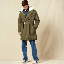 trench coat for boys water repellent sheepskin lined coats color olive green child pattern