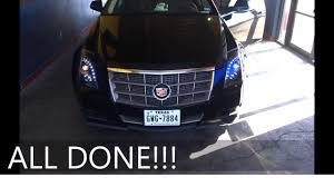 Cadillac Cts Lights Cadillac Cts 08 13 Headlight Replacement Repair No Bumper Removed