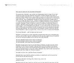 downfall essay macbeth downfall essay