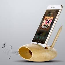 cell phone charging dock natural wood docking station iphone stand holder sound amplifier for iphone 7 7 plus 6s 6s plus in mobile phone holders stands