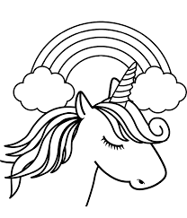 See more ideas about coloring pages, rainbow, coloring pages nature. Coloring Pages Unicorn Head In Front Of Rainbow Coloring Page Free Printable Awesomees To Color