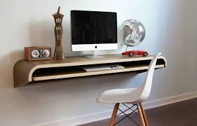 wall mounted home office. Wall Mount Computer Desk For Space Saving Solution And Minimalist Home Office Plus White Egg Chair Keyboard Shelf Storage Furniture Accessories Mounted