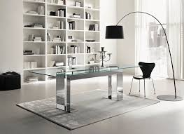 rectangle glass dining room table. Furniture. Rectangle Glass Dining Table With Double Stainless Steel Bases On Grey Rug. Room