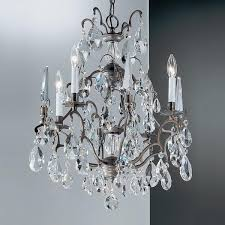 acanthus and crystal bronze chandelier oil rubbed