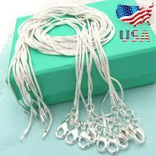 XMAS Wholesale 925 Sterling Silver Lots 10pcs <b>1mm Snake Chains</b> ...