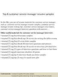 Top8customerservicemanagerresumesamples 150424214846 Conversion Gate02 Thumbnail 4 Jpg Cb 1429930174