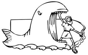 Small Picture Jonah Came Out from Whale Mouth in Jonah and the Whale Coloring