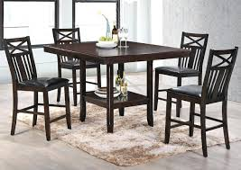 2 Tier Tempered Glass Dining Tables Kitchen Metal Legs Dining Room