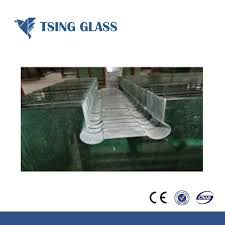 china cut sizes samll pieces toughened glass tempered glass with logo holes china swimming pool fence glass