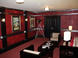 home theater art. art deco home theater with chair rail, wall sconce, carpet, crown molding, o