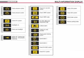 Honda Pilot Light Meanings Honda Crv 2009 Warning Lights On Dashboard Wireless Sensor