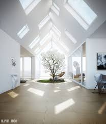 Skylights. Home Designs: Bookshelves - Courtyard