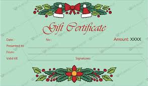Free Printable Gift Certificate Template Word Christmas Gift Certificate Template 30 Word Layouts
