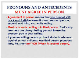 Pronoun Antecedent Agreement And Types Of Pronouns Pronoun Antecedent Agreement Ppt Download