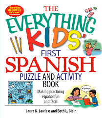 book cover image jpg the everything kids first spanish puzzle activity book