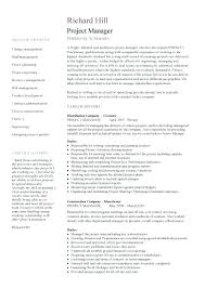 Project Manager Resume Templates Free Best of Construction Manager Resume Examples Lespa