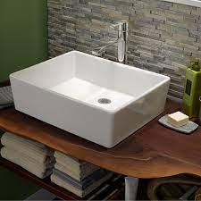 Bathroom Sinks Loft Above Counter Sink Less Faucet Hole White Above Counter Bathroom Sink Rectangular Sink Sink