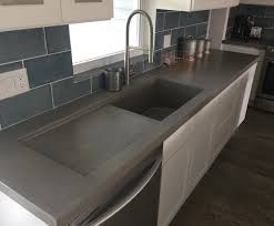 Concrete Countertop With Integrated Sink And Drainboard Www