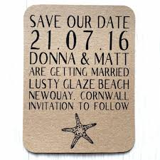 How To Make A Save The Date Card Beach Wedding Save The Date Cards Wedding Save The Dates Rustic Save The Date Card Kraft Save The Day Starfish Save The Date