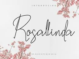 Script Designs Rosallinda Script Font By Zainstudio On Dribbble